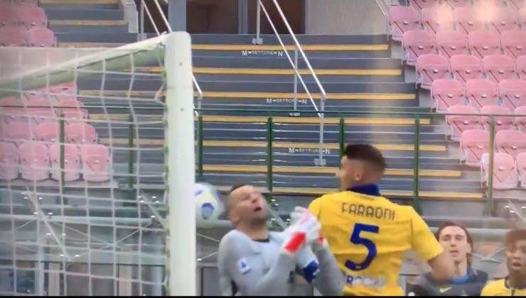 Gol annullato Inter-Verona 2