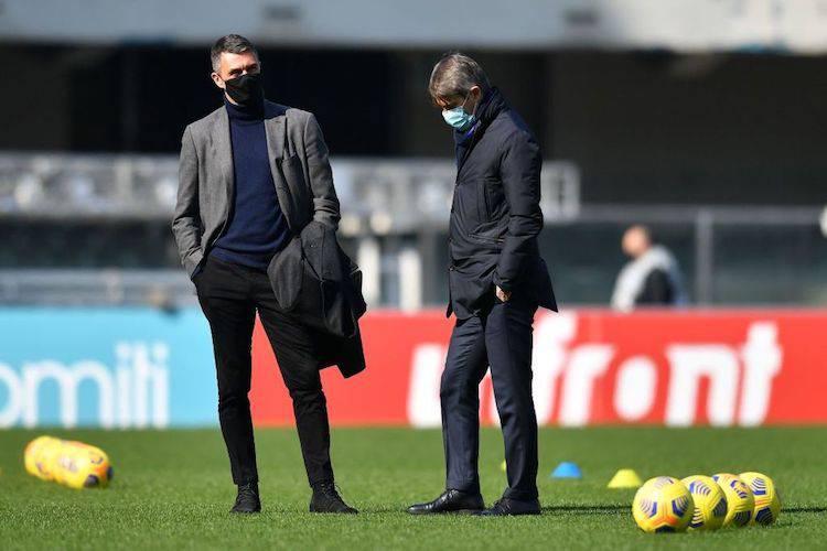 Paolo Maldini e Frederic Massara
