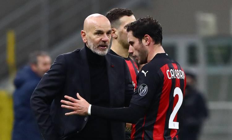 Stefano Pioli e Davide Calabria