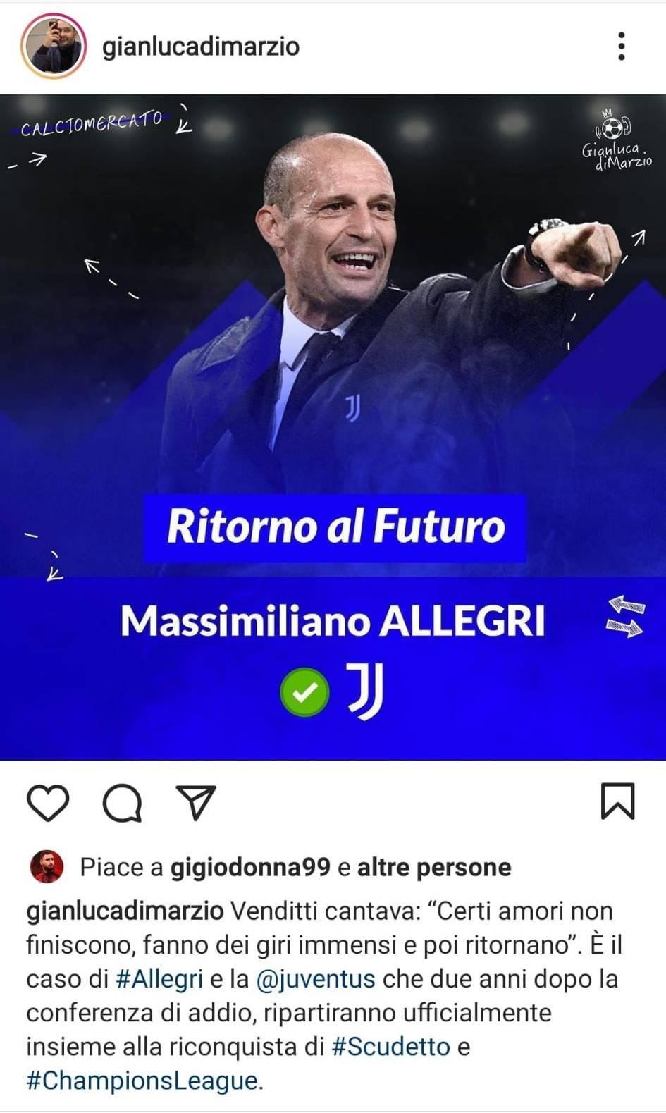 Like Donnarumma su Instagram