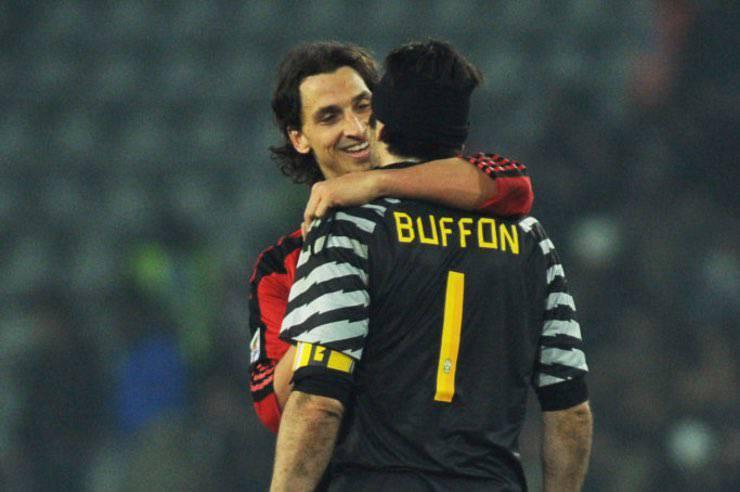 Ibrahimovic e Buffon