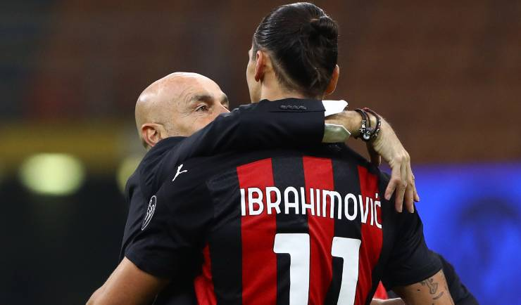 Stefano Pioli Zlatan Ibrahimovic