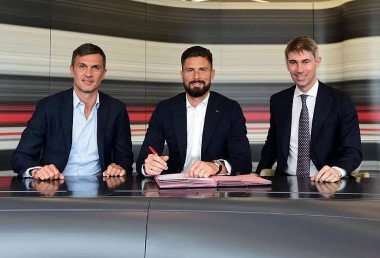 Giroud, Maldini e Massara