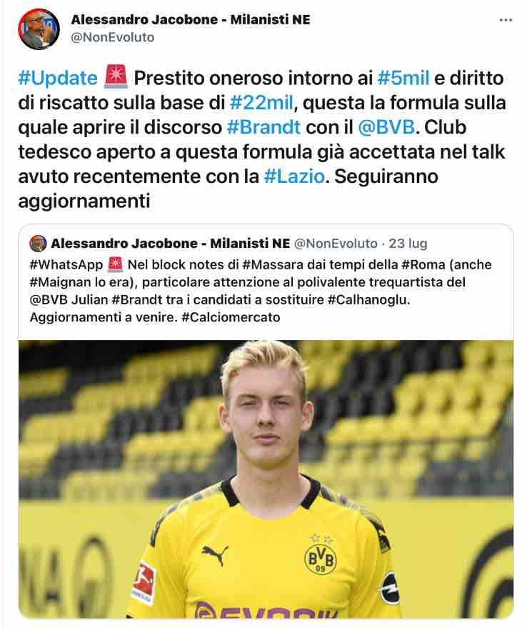 Tweet Alessandro Jacobone