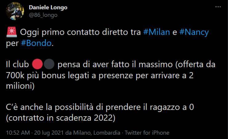 Warren Bondo Milan