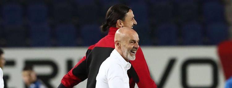 Stefano Pioli e Zlatan Ibrahimovic